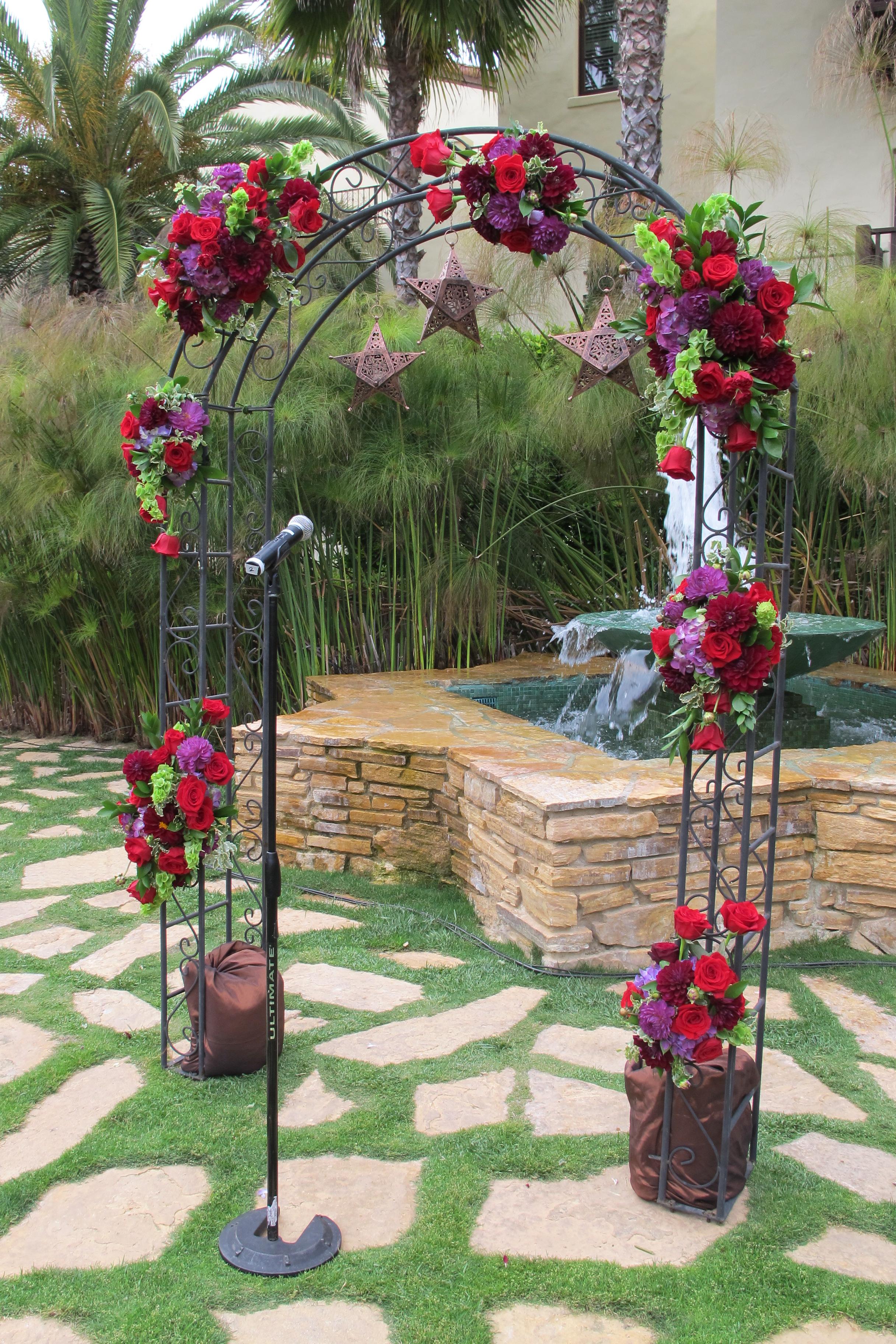 Сделать арку для цветов своими руками из металла